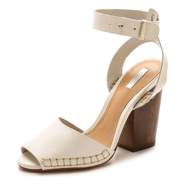 SCHUTZ Ervinia ankle strap sandals - A chunky wooden heel elevates these leather Schutz sandals....