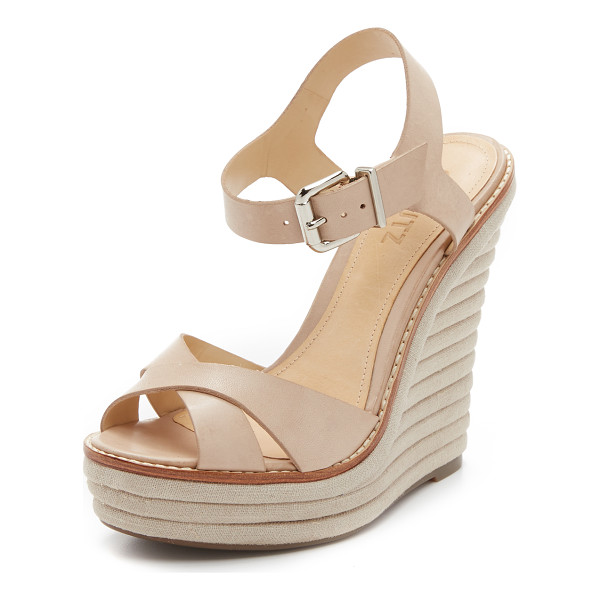 SCHUTZ Francine wedge sandals - Rounded layers of canvas compose the platform on these...