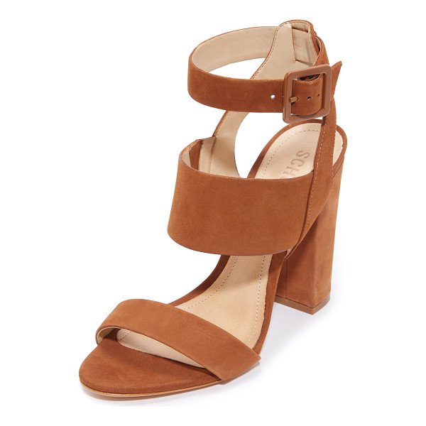 SCHUTZ franzen sandals - Luxe nubuck Schutz sandals styled with wide straps. Buckle