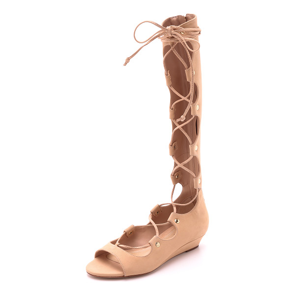 SCHUTZ Fyona gladiator wedge sandals - Schutz gladiator sandals in a knee high silhouette. Lace up