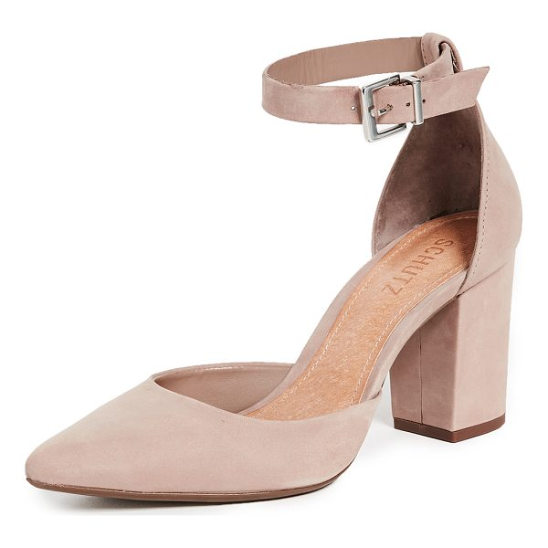 SCHUTZ ionara ankle strap pumps - Pointed-toe Schutz pumps crafted in smooth suede. Ankle...