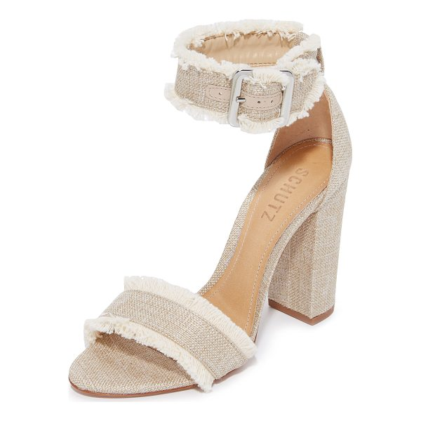 SCHUTZ janessa fray sandals - Exclusive to Shopbop. Soft, frayed trim accents these...