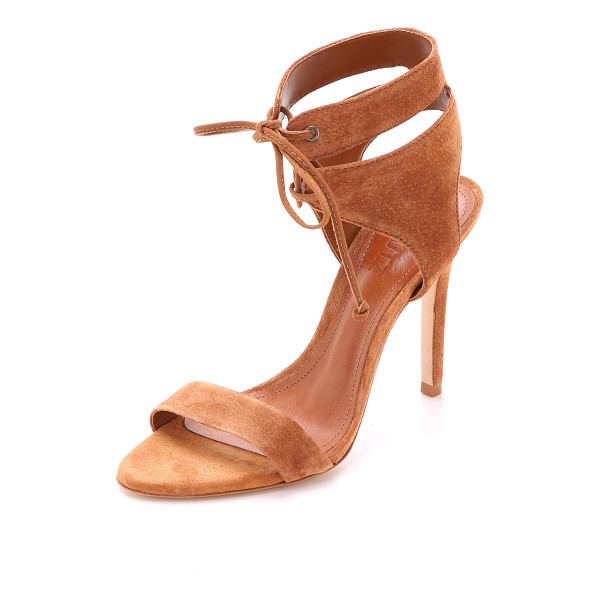 SCHUTZ Kora suede sandals - Lace up ankle cuffs detail these rubbed suede Schutz