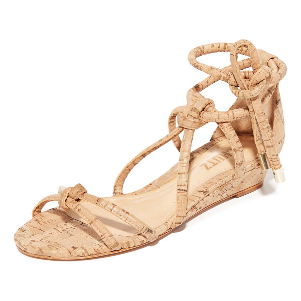 SCHUTZ margarete wedge sandals - Knotted straps create a caged effect on these cork Schutz...