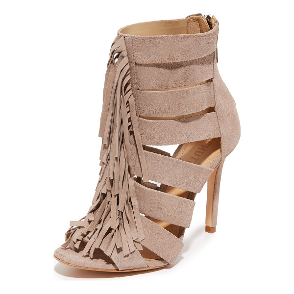 SCHUTZ Marva booties - Fringe lends an edgy feel to these cutout, suede Schutz...