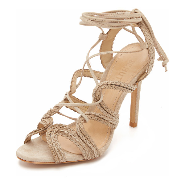 SCHUTZ Nelda sandals - Scalloped straps of braided leather update these unique...