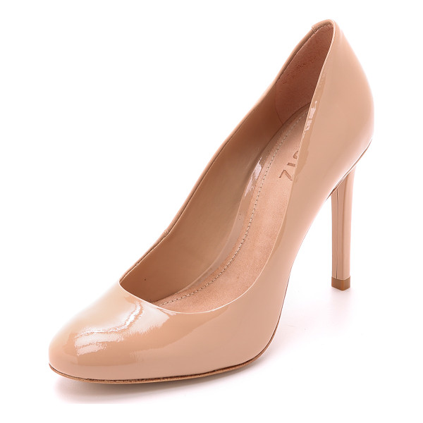 SCHUTZ Oxia pumps - A gently rounded toe lends timeless appeal to patent