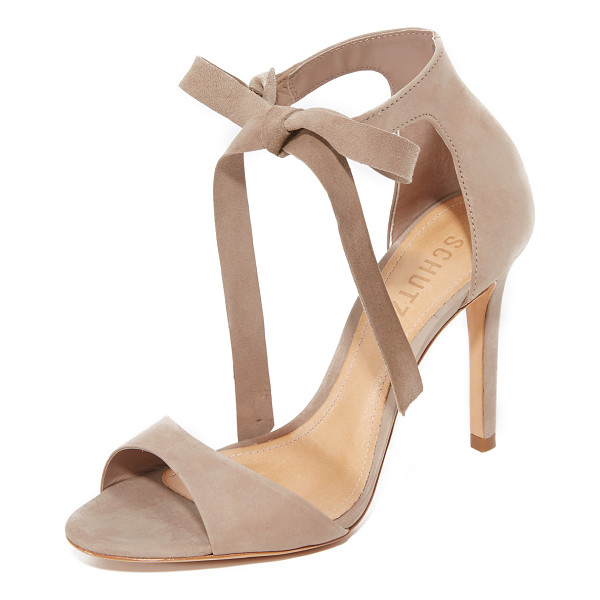 SCHUTZ rene tie sandals - Refined Schutz sandals in luxe nubuck. Wraparound ankle...