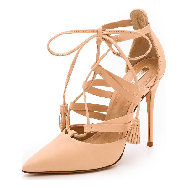SCHUTZ Zora lace up pumps - Nubuck Schutz pumps styled with an alluring lace up closure...