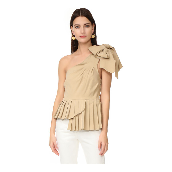 SEA one shoulder bow top - A knotted bow accents the single shoulder on this Sea...