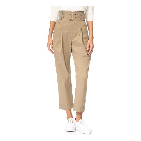 SEA ripley windbreaker slack pants - High-waisted Sea pants with deep single pleats. Grommets...
