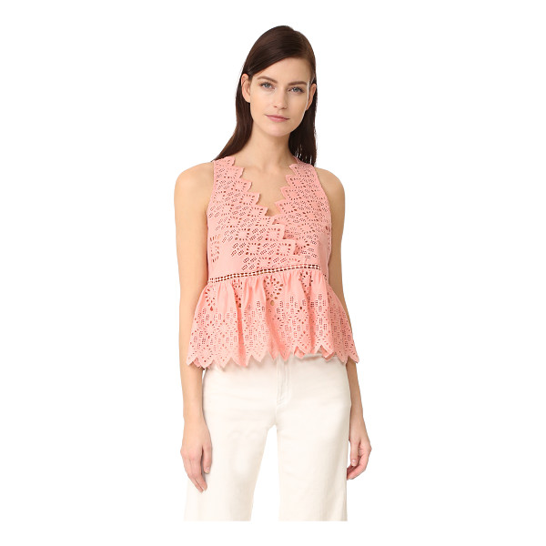 SEA v neck tank - This charming Sea top is crafted in pastel eyelet and...