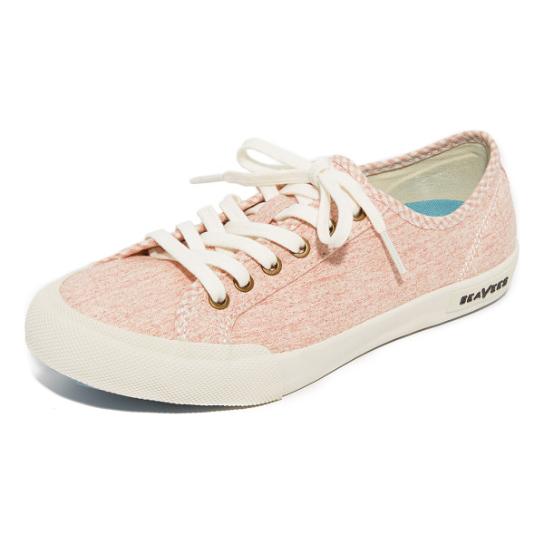 SEAVEES monterey beach club sneakers - Canvas SeaVees sneakers styled with checkered piping at the