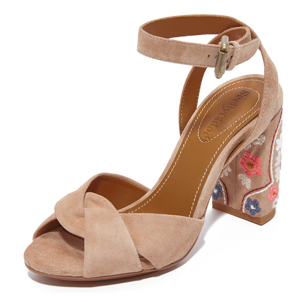 SEE BY CHLOE china sandals - Colorful floral embroidery adds bohemian, retro style to...