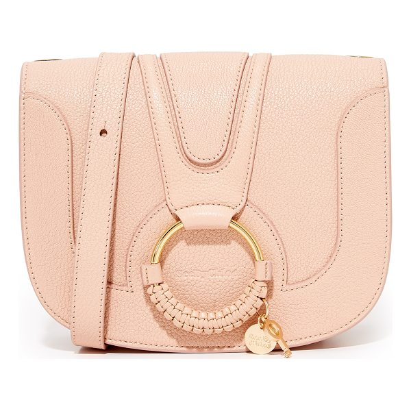 SEE BY CHLOE hana medium saddle bag - This See by Chloé saddle bag is crafted from pebbled...