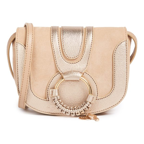 SEE BY CHLOE hana mini saddle bag - A petite See by Chloé saddle bag in metallic leather and