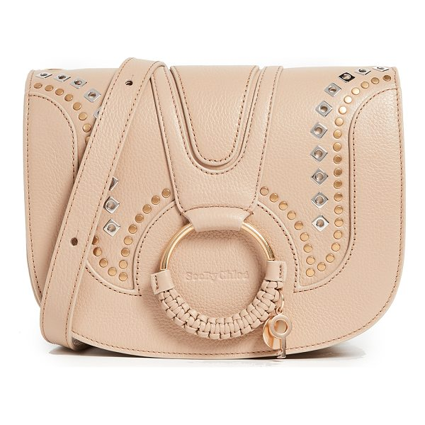SEE BY CHLOE hana saddle bag - Two-tone, polished grommets add bold, edgy style to this...