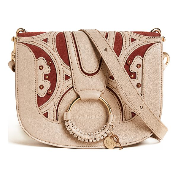 SEE BY CHLOE hana saddle bag - A mix of suede and pebbled leather lends sophisticated