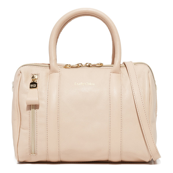 SEE BY CHLOE See By Chloe Harriet Satchel - A structured See by Chloé bag in luxe, pebbled leather. Zip