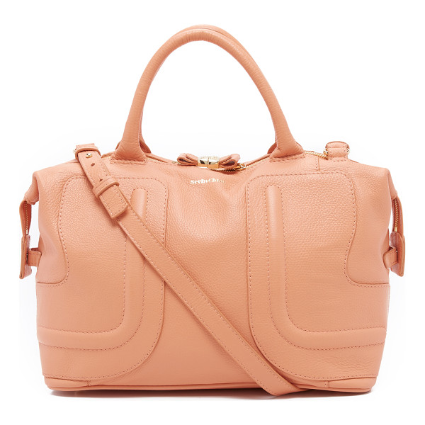 SEE BY CHLOE Kay medium satchel - A large See by Chloé tote in pebbled leather, accented with