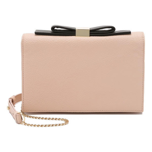 SEE BY CHLOE Nora small clutch - A wrinkled leather See by Chloé cross body clutch detailed