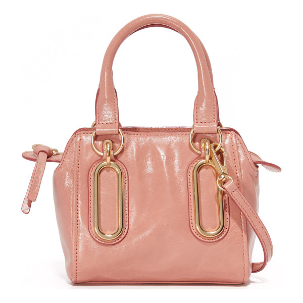 SEE BY CHLOE paige cross body bag - Polished ovals detail the front of this glazed leather See...