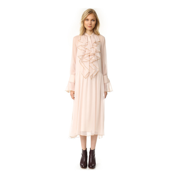 SEE BY CHLOE ruffle dress - A filmy chiffon See by Chloe dress with an airy, delicate...