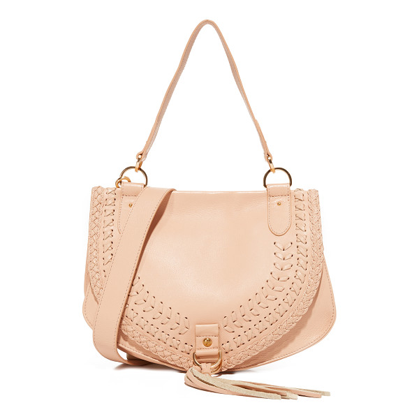 SEE BY CHLOE collins large saddle bag - A See by Chloé saddle bag in pebbled leather, accented with...
