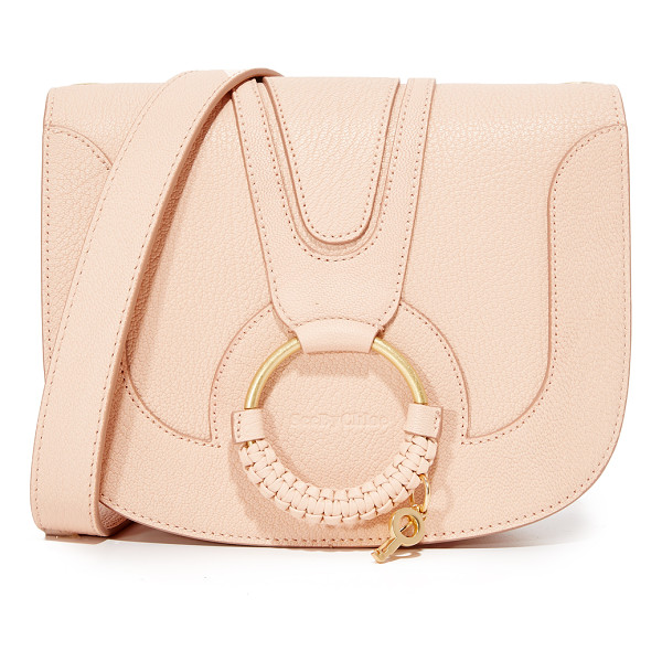 SEE BY CHLOE hana saddle bag - A matte ring with a decorative key charm details the...