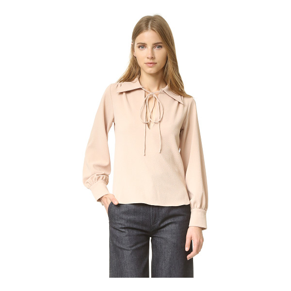 SEE BY CHLOE tie neck blouse - A tie secures the front keyhole on this relaxed See by...