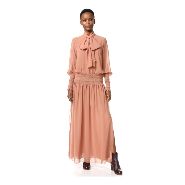 SEE BY CHLOE See By Chloe Tie Neck Maxi Dress - Long ties drape from the neckline of this romantic See by...