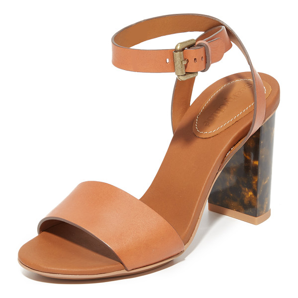 SEE BY CHLOE Tourtise sandals - A tortoiseshell heel adds a stylish detail to these rich...