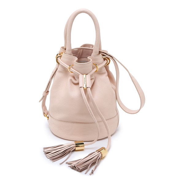 SEE BY CHLOE Vicki exclusive bucket bag - Polished hardware and a tasseled drawstring lend an elegant