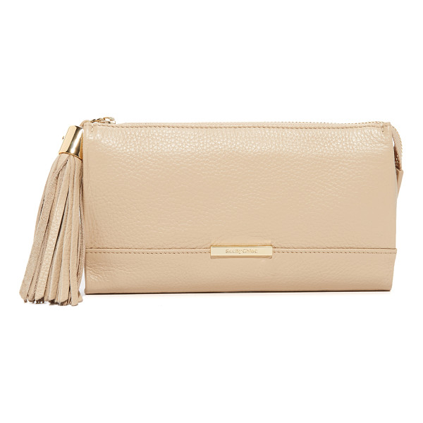 SEE BY CHLOE Vicki pouch - A leather tassel hangs from the top zip of this simple See...