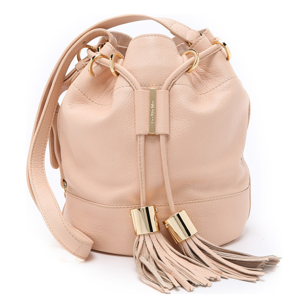 SEE BY CHLOE Vicki small bucket bag - Tassels lend an eclectic look to this leather See by Chloé