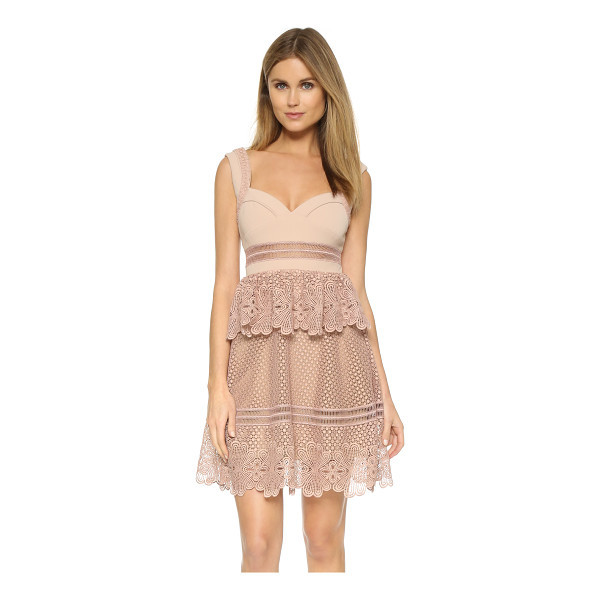 SELF-PORTRAIT Natalia tiered dress - A ruffled overlay accents the waist of this charming Self...