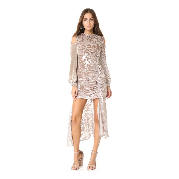 SELF-PORTRAIT open back devore dress - This tactile Self Portrait gown has a shimmering metallic...