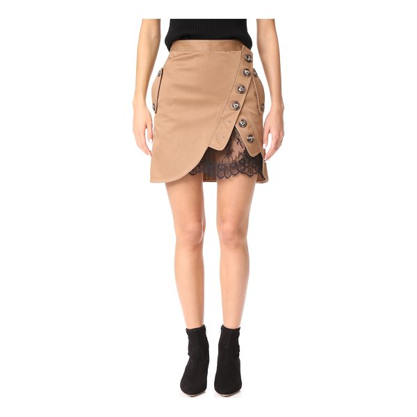 SELF-PORTRAIT utility miniskirt - A crossover button panel at the front reveals a peek of...