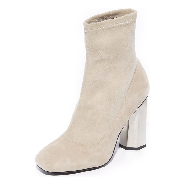 SENSO umar iv booties - A gold-tone heel breaks up the minimalist silhouette of...