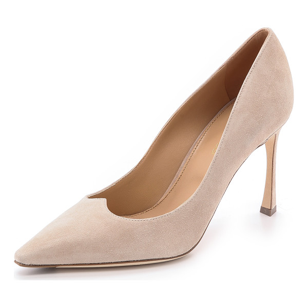 SERGIO ROSSI Charisse pumps - These elegant suede Sergio Rossi pumps are accented with...