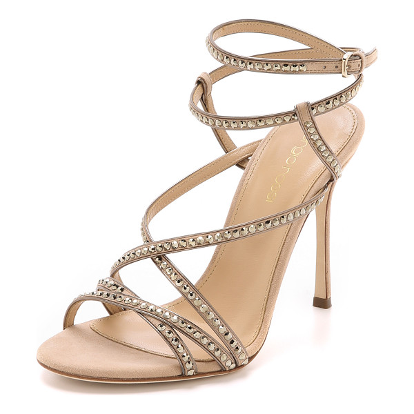 SERGIO ROSSI Crystal sandals - Striking, Swarovski crystal studded Sergio Rossi sandals in