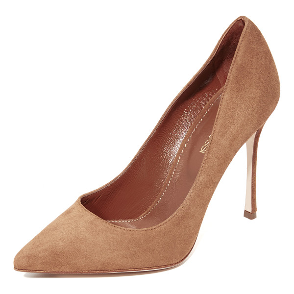 SERGIO ROSSI godiva pumps - These classic pointed-toe Sergio Rossi pumps are crafted in...