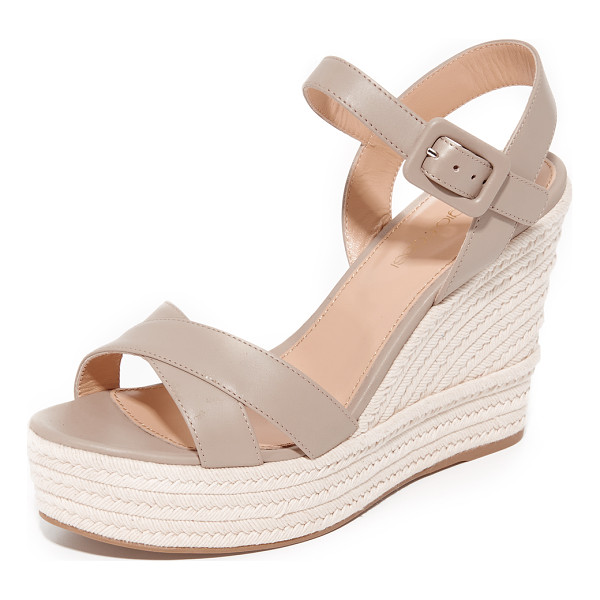 SERGIO ROSSI maui espadrille sandals - Smooth leather Sergio Rossi platform sandals with a