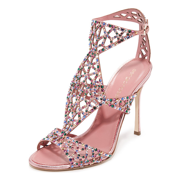 SERGIO ROSSI tresor sandals - Glamorous Sergio Rossi sandals with glittering crystals...