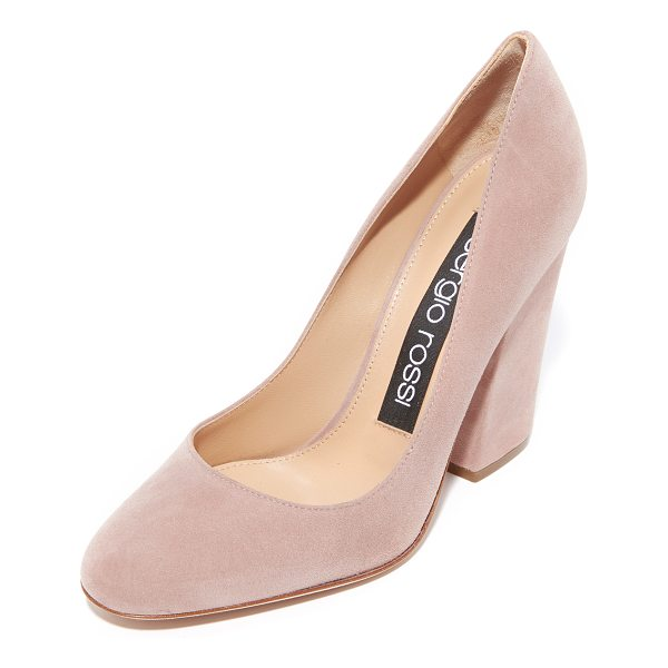 SERGIO ROSSI virginia heels - These versatile Sergio Rossi pumps are crafted in velvety...