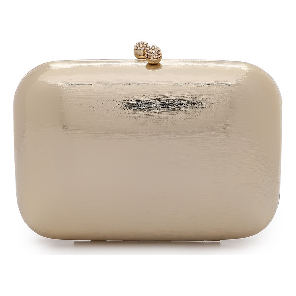 SERPUI MARIE Metallic clutch - A textured metallic finish brings glamorous shine to this