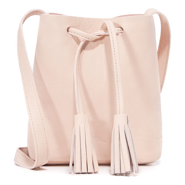 SHAFFER Greta drawstring bag - A simple Shaffer drawstring bag in full grain leather.