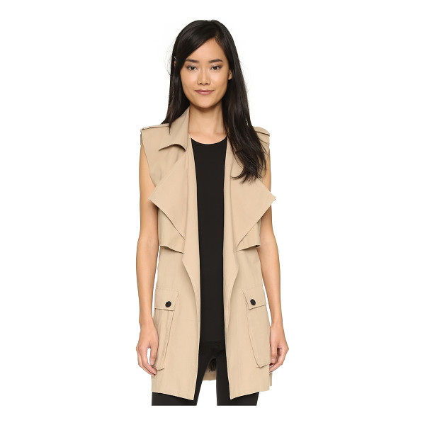 SHAKUHACHI Sleeveless trench coat - Description NOTE: Sizes listed are Australian. Please see...