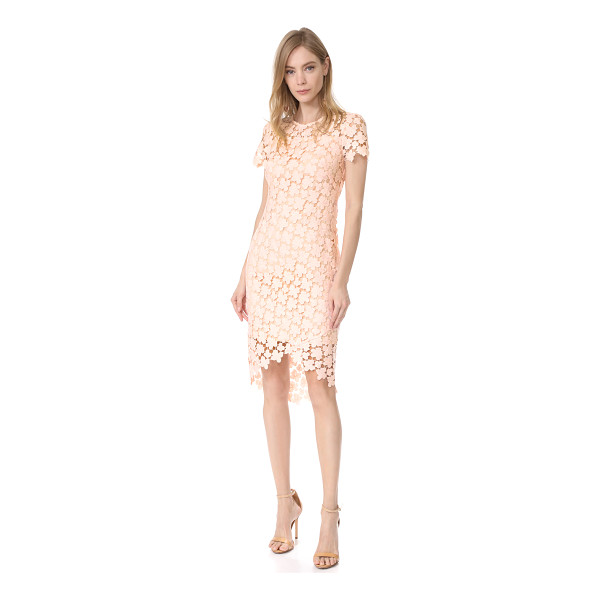 SHOSHANNA baylor dress - A guipure lace Shoshanna dress in a formfitting silhouette....
