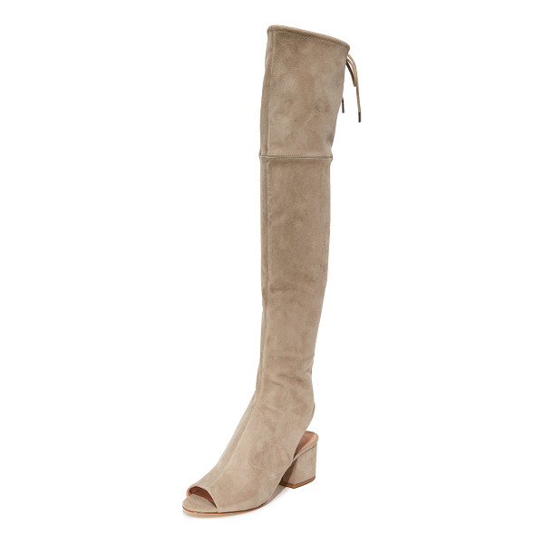 SIGERSON MORRISON mason over the knee open toe boots - Stretch suede Sigerson Morrison over the knee boots styled...